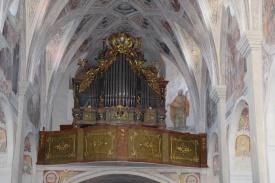 Kloster Seeon. Auf dieser Orgel spielte einst Mozart