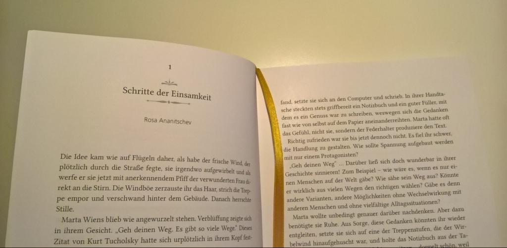 """""""Schritte der Einsamkeit"""", Kurzgeschichte von Rosa Ananitschev"""
