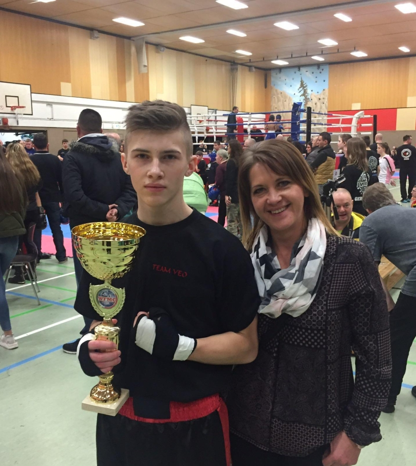 Mikel Taach - 1. Platz beim Kick-Thai-Boxen (Battle of Westfalia), Februar 2017