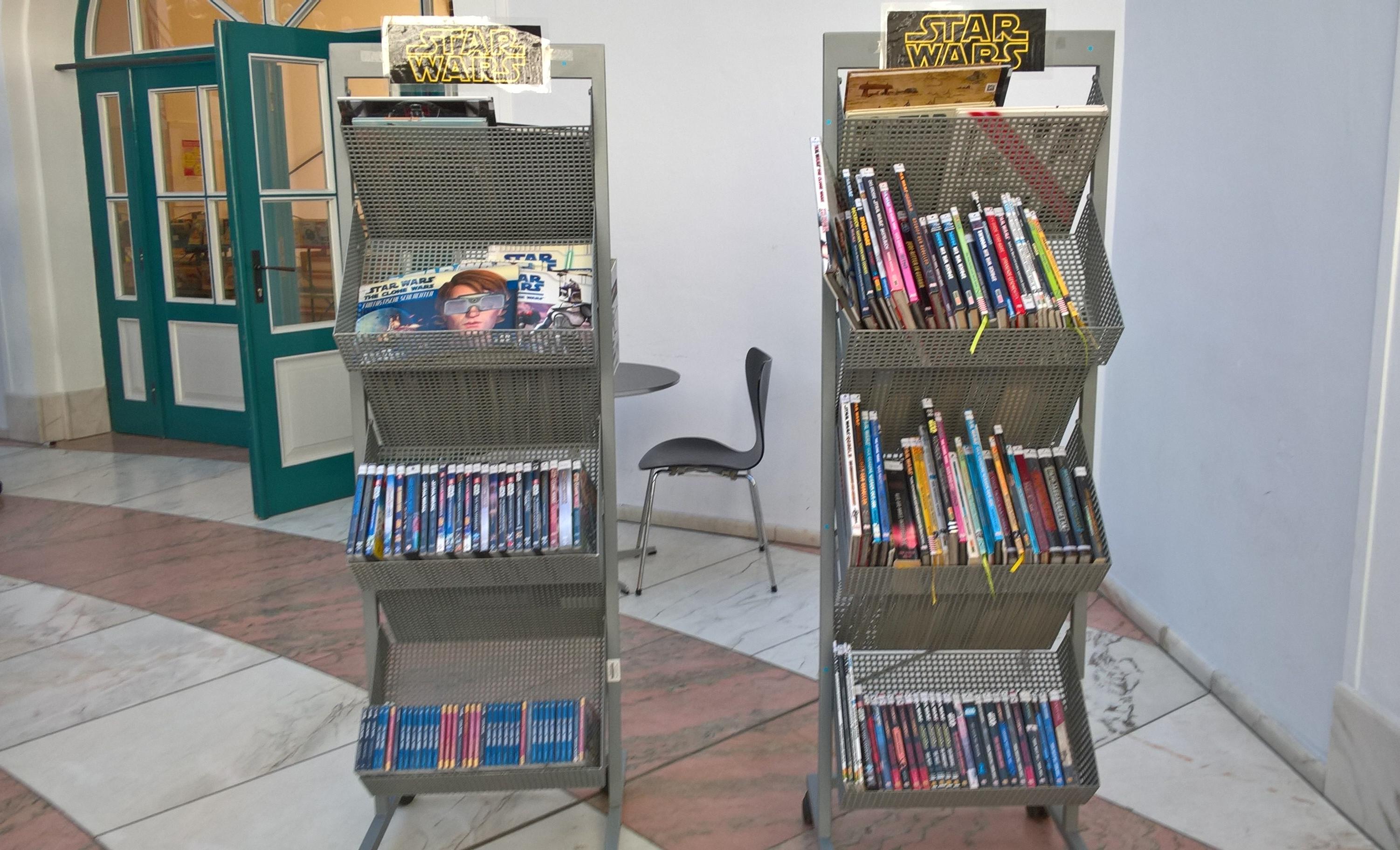 Star Wars Ecke in der Stadtbücherei