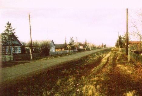 Die Straße meiner Kindheit im Dorf Schönfeld (Dobroje Pole)