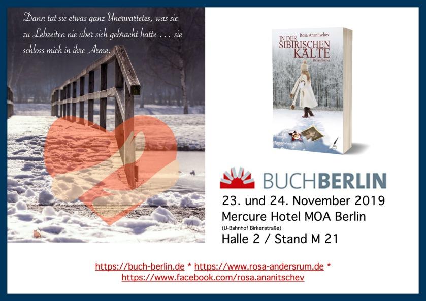 """""""In der sibirischen Kälte"""" von Rosa Ananitschev auf der Buchmesse Berlin 2019"""