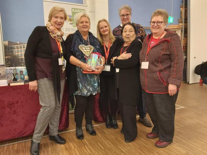 Maria Hertting, Renate Zawrel, Nicol Lange, Dagmar Roder, Barbara Siwik und Rosa Ananitschev auf der BuchBerlin 2019